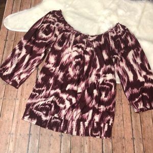 🎉Lucky Brand Off Shoulder TieDye Blouse🎉